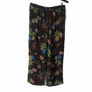 Linea by Louis Dell'Olio Floral Pull On Crop Pants